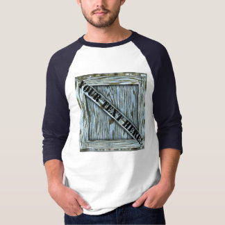 Crate T-shirt - blue wood
