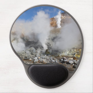 Crater active volcano: hot springs and fumaroles gel mouse mat
