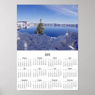 Crater Lake 2015 wall calendar Poster