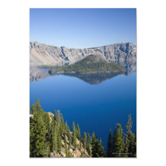 Crater Lake and Wizard Island 13 Cm X 18 Cm Invitation Card