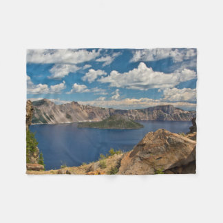 Crater Lake and Wizard Island, Crater Lake Fleece Blanket