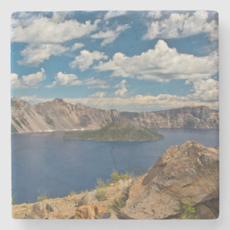 Crater Lake and Wizard Island, Crater Lake Stone Beverage Coaster