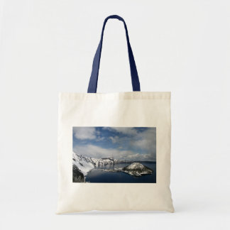 Crater Lake and Wizard Island Tote Budget Tote Bag