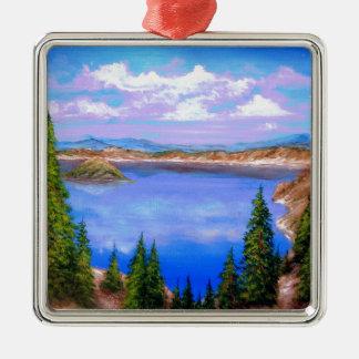 Crater Lake Design Christmas Ornament