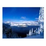 Crater Lake in Winter Oregon Postcard