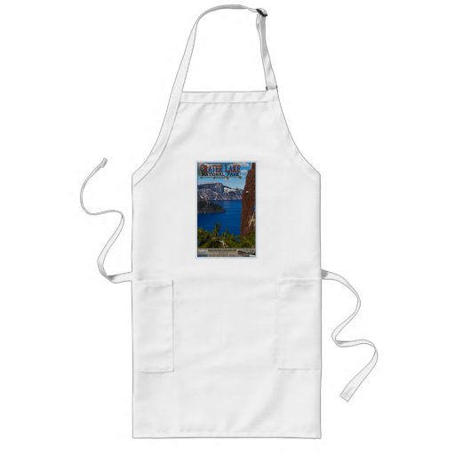 Crater Lake - Informational Poster Aprons