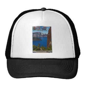 Crater Lake - Informational Poster Mesh Hats