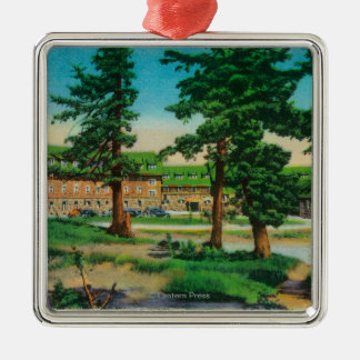 Crater Lake Lodge and Old PinesCrater Lake, OR Christmas Ornament