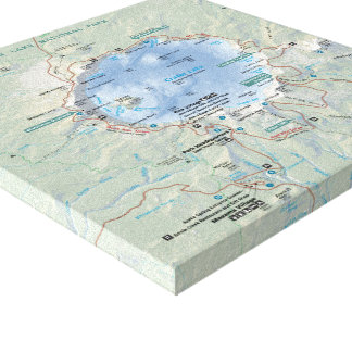 Crater Lake map canvas print