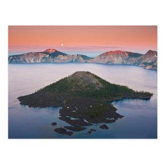 Crater Lake Moonrise Postcard