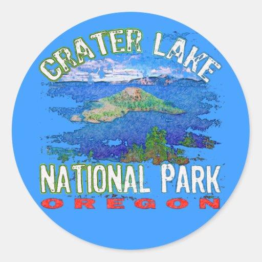 Crater Lake National Park Oregon Round Sticker