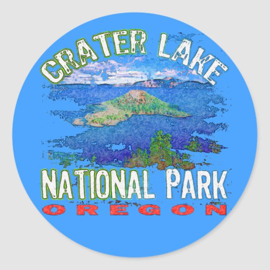 Crater Lake National Park Oregon Round Sticker