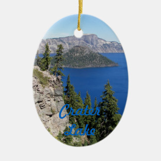 Crater Lake National Park Photo Ceramic Oval Decoration