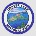 Crater Lake National Park Round Sticker