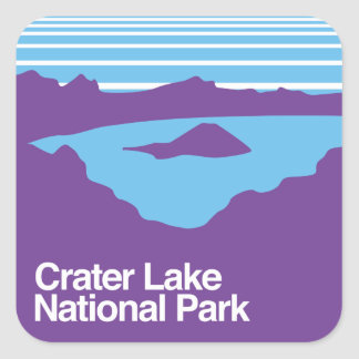 Crater Lake National Park Square Sticker