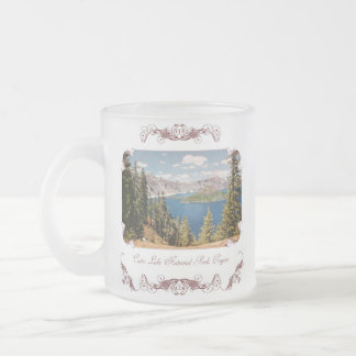 Crater Lake Oregon Frosted Coffee Mug