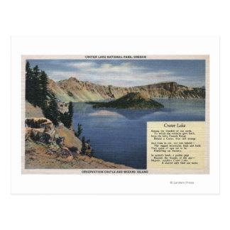 Crater Lake, Oregon - Observation Postcard