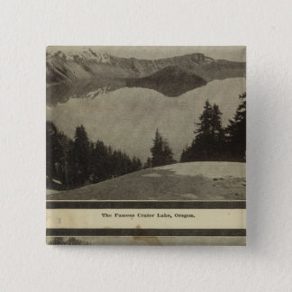Crater Lake Oregon Orchard scene 15 Cm Square Badge