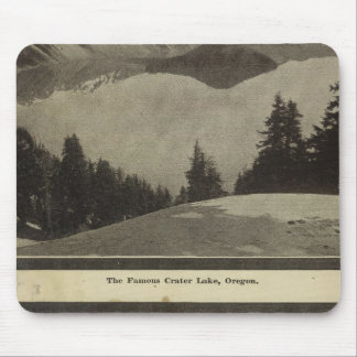 Crater Lake Oregon Orchard scene Mouse Pad