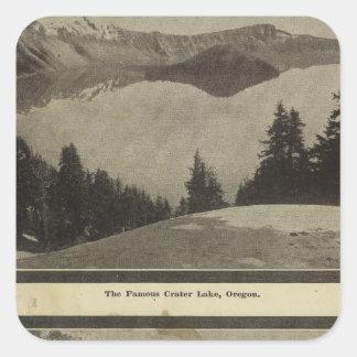 Crater Lake Oregon Orchard scene Square Sticker