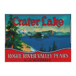 Crater Lake Pear Crate LabelMedford, OR Stretched Canvas Prints
