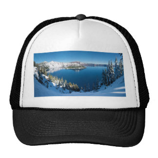 Crater Lake South Central Oregon in Winter Cap