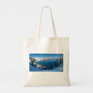 Crater Lake South Central Oregon in Winter Tote Bag