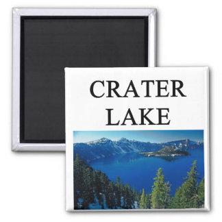 crater lake square magnet