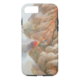 Crater of Mount Vesuvius from an original drawing iPhone 8/7 Case