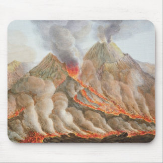 Crater of Mount Vesuvius from an original drawing Mouse Mat