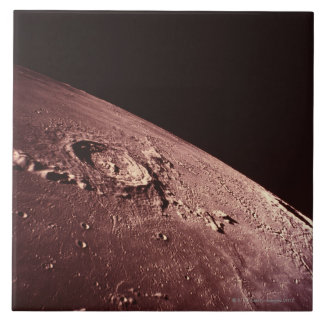Crater on the Moon Tile