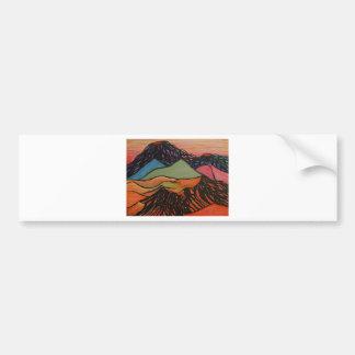 cratered landscape bumper sticker