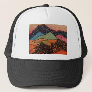 cratered landscape trucker hat