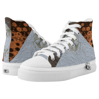 Craters and Stars Hi Top Printed Shoes