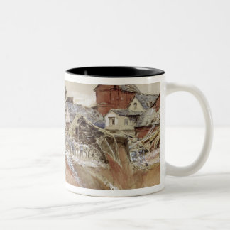 Craters at Ham-Saint-Quentin Two-Tone Coffee Mug