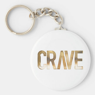 CRAVE BASIC ROUND BUTTON KEY RING