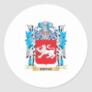 Crave Coat of Arms - Family Crest Round Stickers