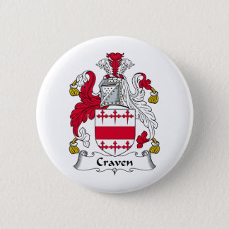 Craven Family Crest 6 Cm Round Badge