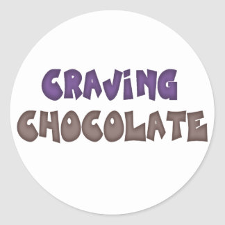 Craving Chocolate Round Sticker