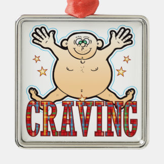 Craving Fat Man Silver-Colored Square Decoration