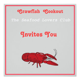 Craw fish cookout card