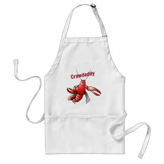Crawdaddy Red Crayfish Standard Apron
