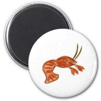 Crawfish 6 Cm Round Magnet