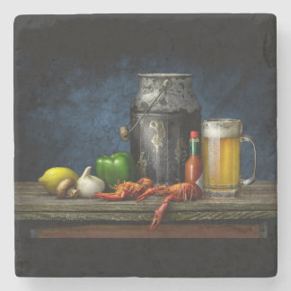Crawfish & Beer Coaster Stone Beverage Coaster