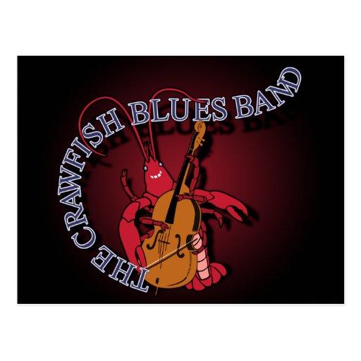 Crawfish Blues Band Bassist Postcards