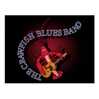 Crawfish Blues Band Guitar Player Postcard