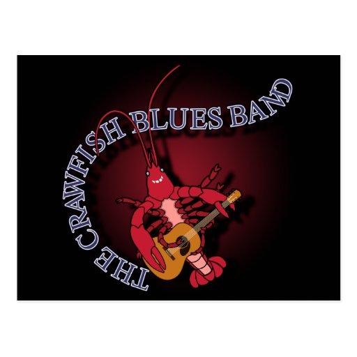 Crawfish Blues Band Guitar Player Postcard