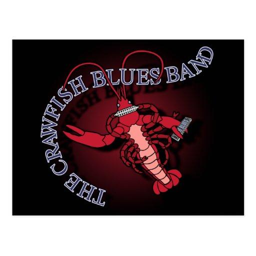 Crawfish Blues Band Harmonica Post Card