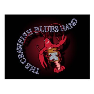 Crawfish Blues Band Washboard Postcard