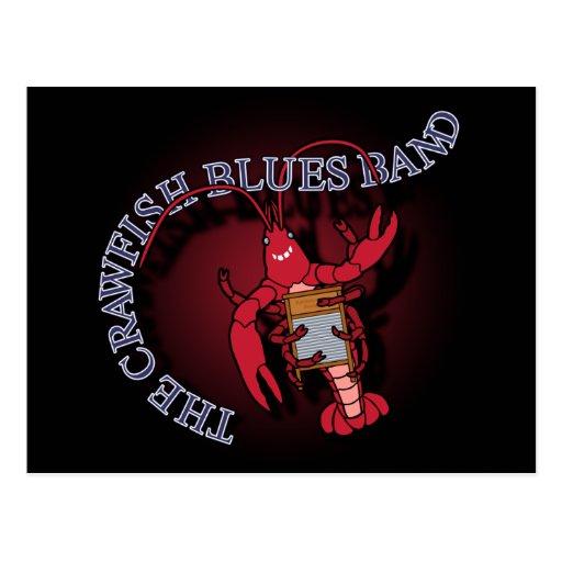 Crawfish Blues Band Washboard Postcards